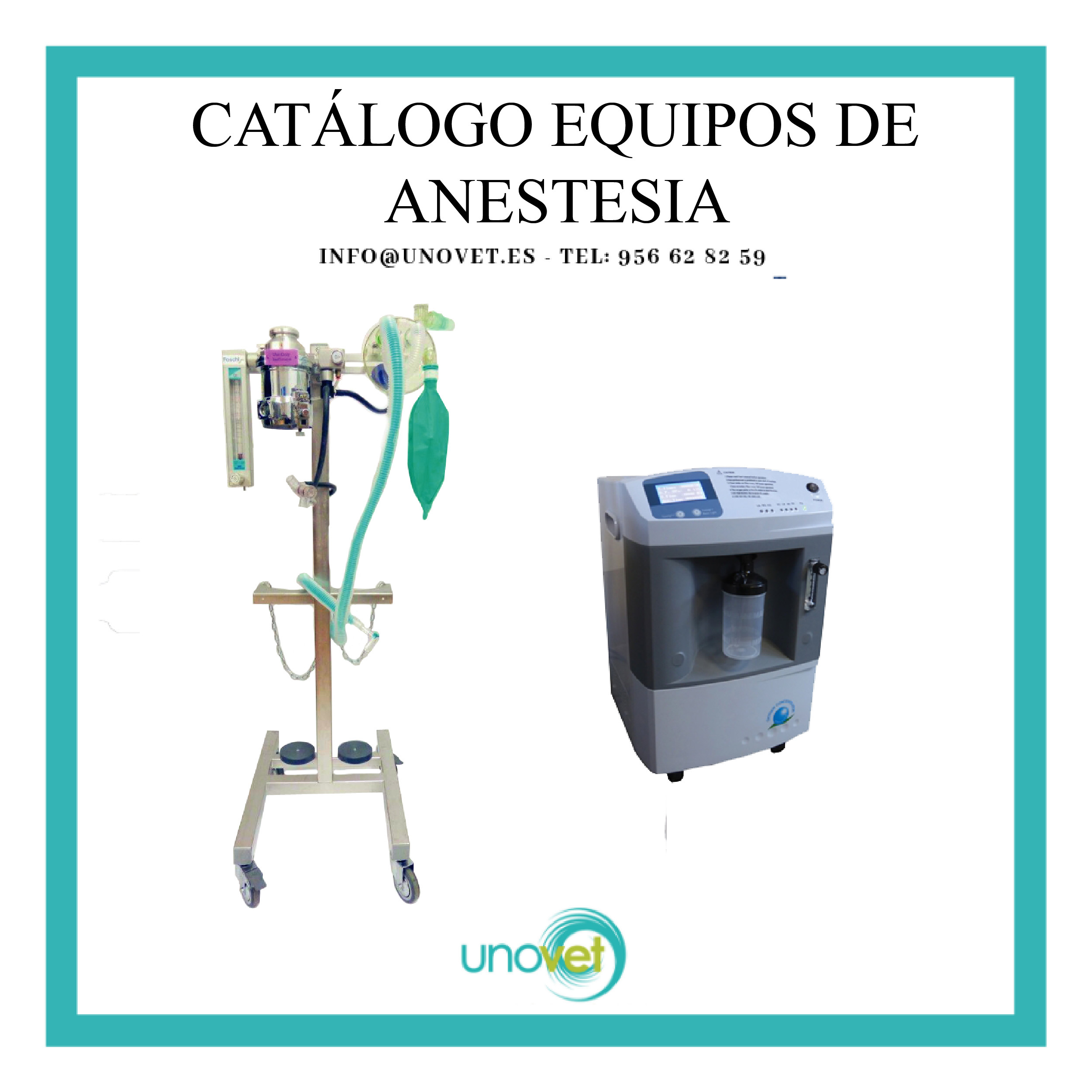 Catálogo equipos de anestesia